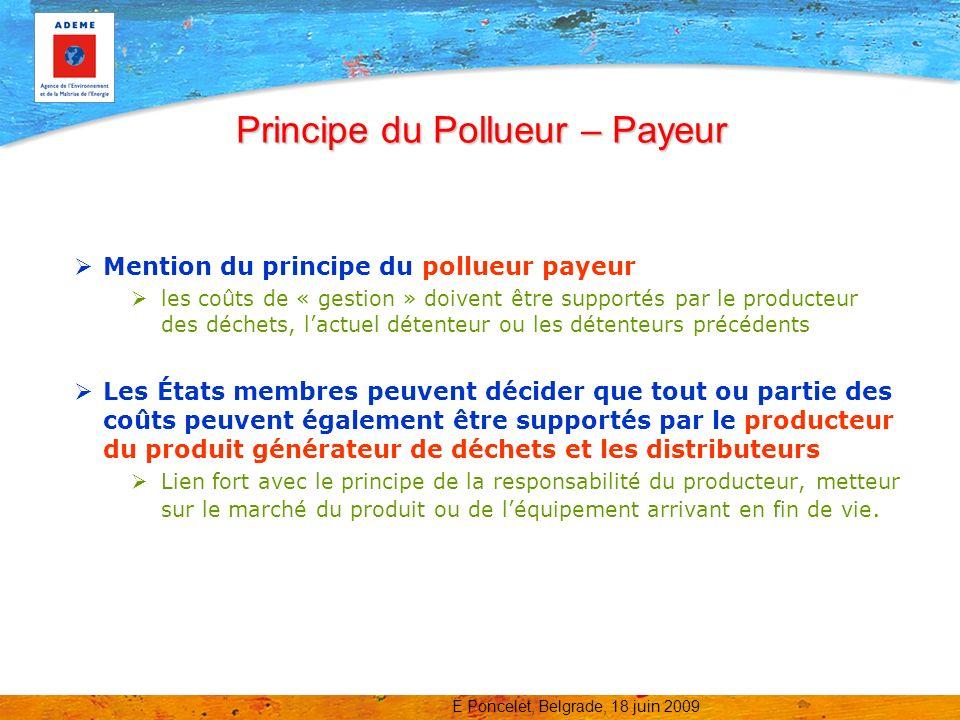 Principe du Pollueur – Payeur