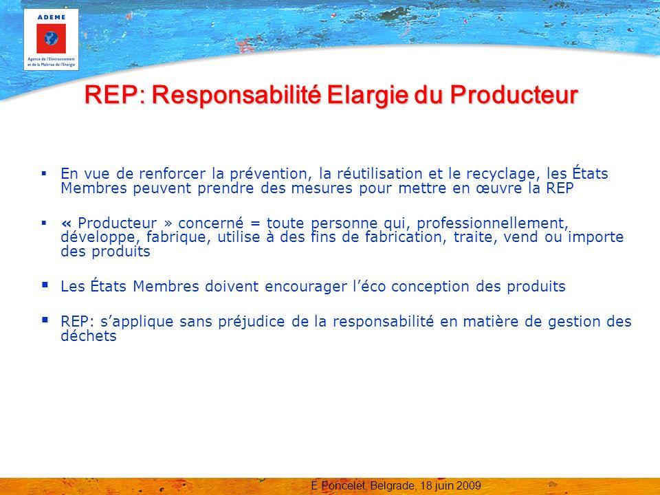 REP: Responsabilité Elargie du Producteur
