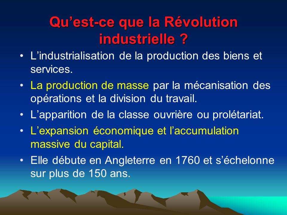 Qu'est-ce que la Révolution industrielle