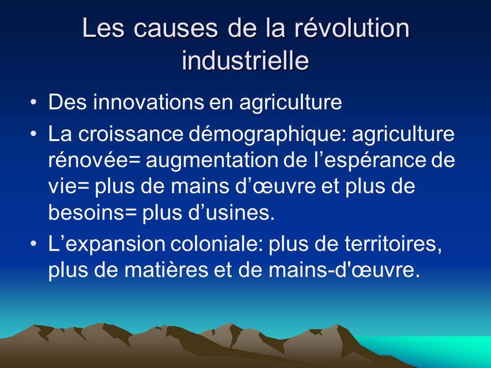 Les causes de la révolution industrielle