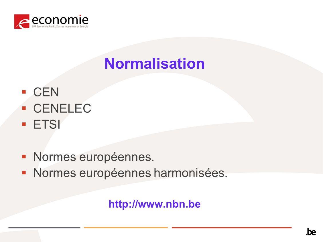 Normalisation CEN CENELEC ETSI Normes européennes.