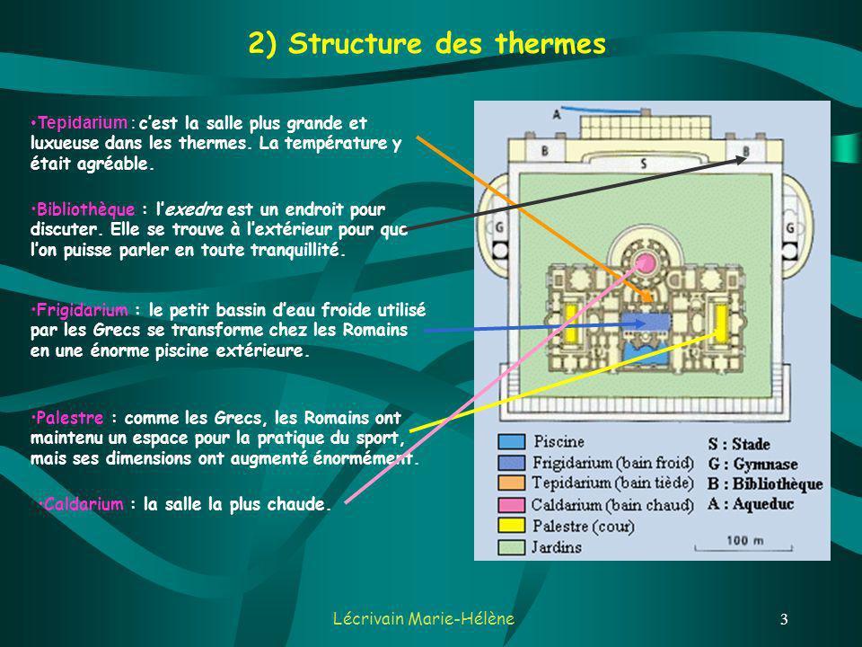 2) Structure des thermes