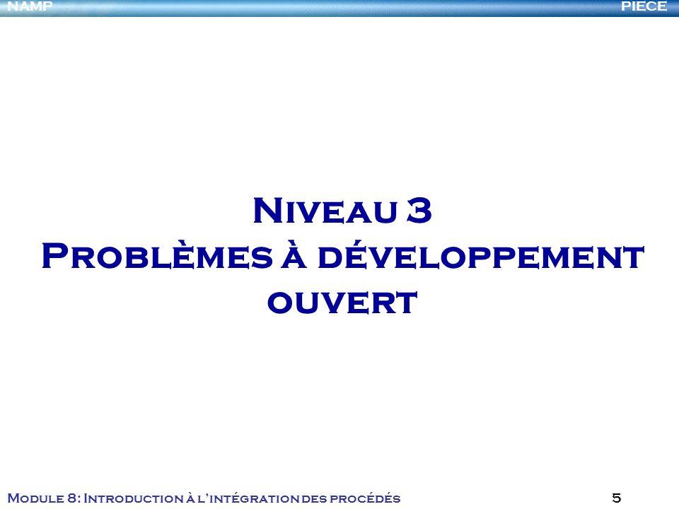 Niveau 3 Problèmes à développement ouvert