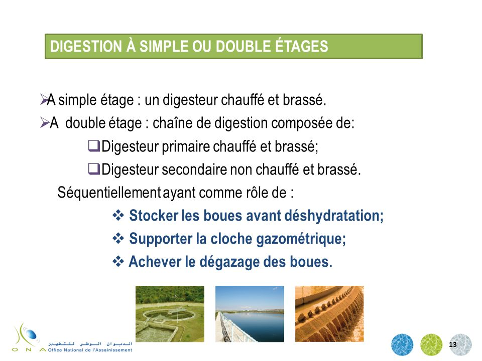 DIGESTION À SIMPLE OU DOUBLE ÉTAGES