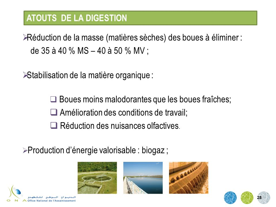 Réduction de la masse (matières sèches) des boues à éliminer :