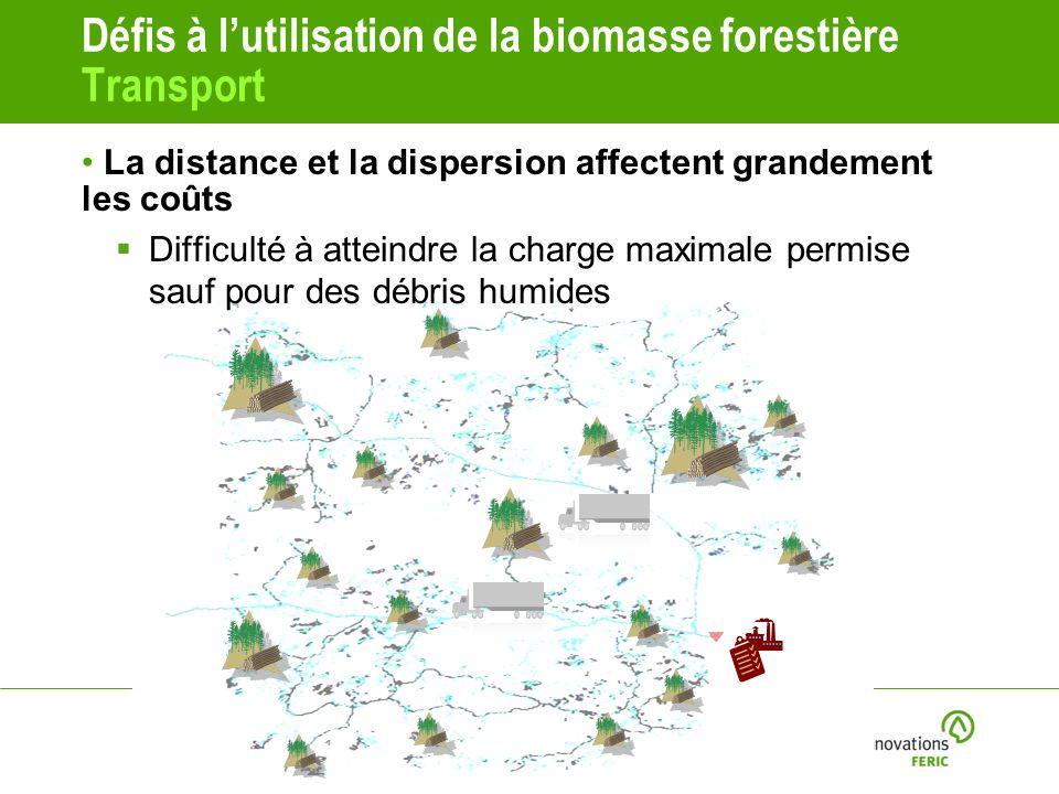 Défis à l'utilisation de la biomasse forestière Transport