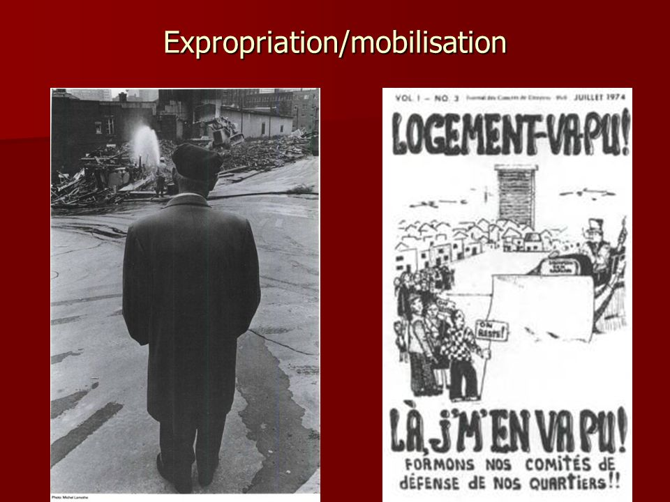 Expropriation/mobilisation