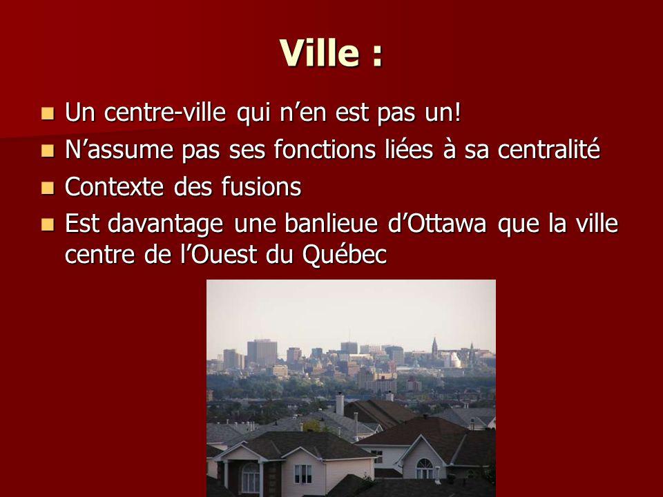 Ville : Un centre-ville qui n'en est pas un!