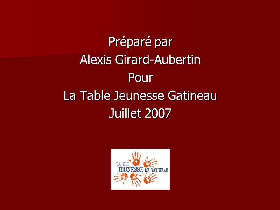 Alexis Girard-Aubertin Pour La Table Jeunesse Gatineau Juillet 2007