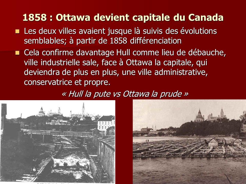 1858 : Ottawa devient capitale du Canada