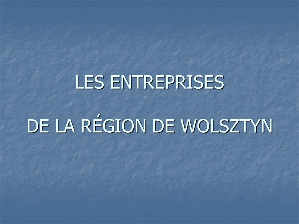 LES ENTREPRISES DE LA RÉGION DE WOLSZTYN