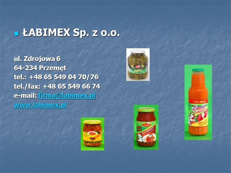 ŁABIMEX Sp. z o.o. ul. Zdrojowa 6 64-234 Przemęt