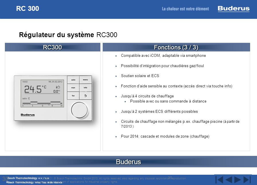 Régulateur du système RC300