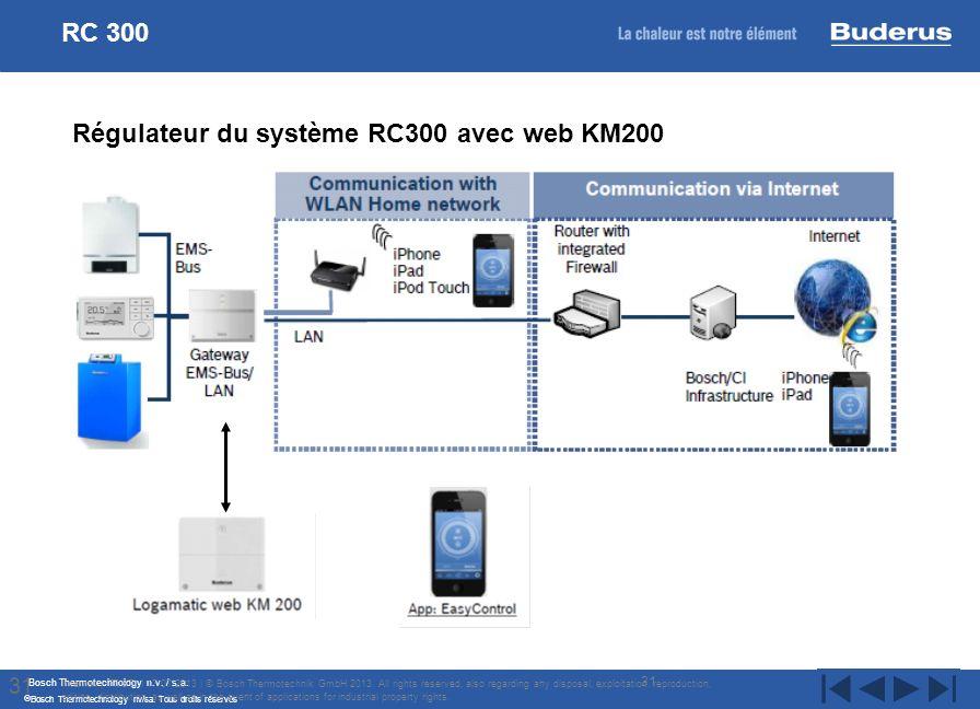 Régulateur du système RC300 avec web KM200
