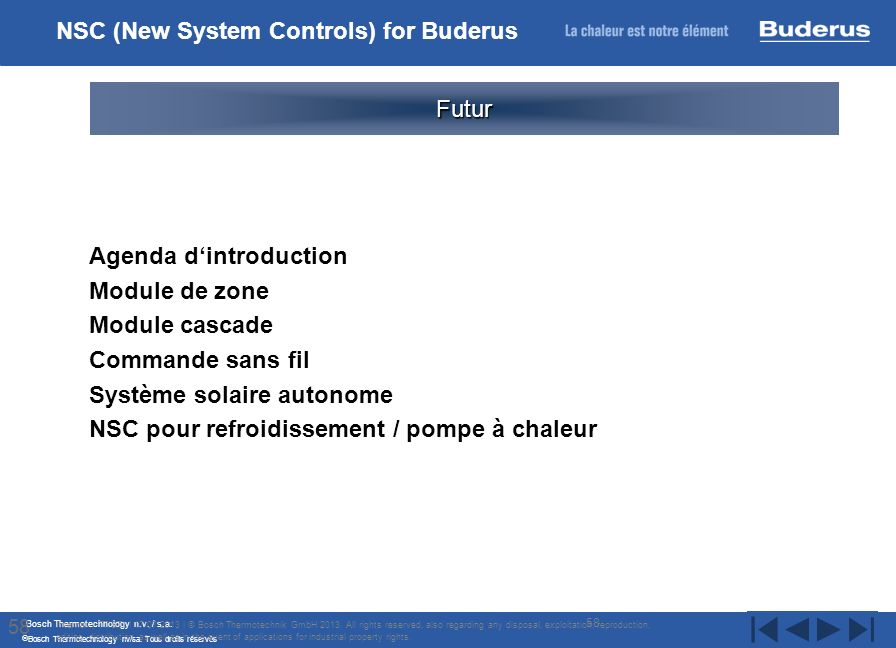 NSC (New System Controls) for Buderus