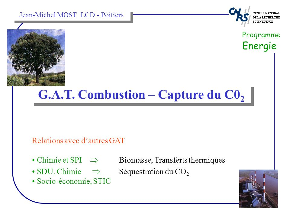 G.A.T. Combustion – Capture du C02