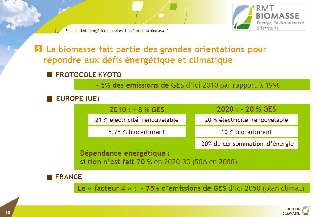 1. Face au défi énergétique, quel est l'intérêt de la biomasse 4.