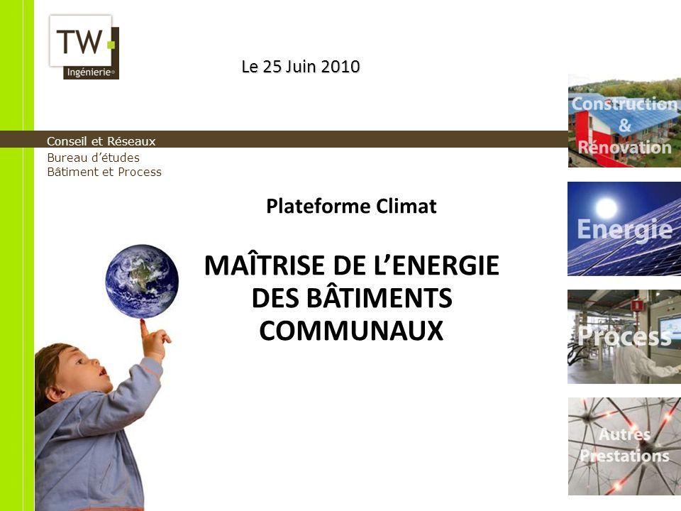 MAÎTRISE DE L'ENERGIE DES BÂTIMENTS COMMUNAUX