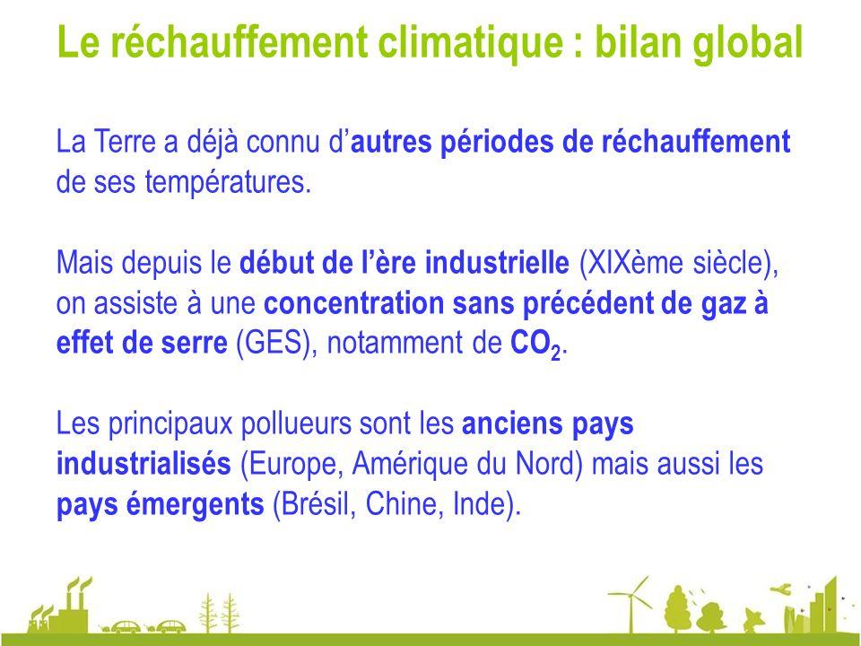 Le réchauffement climatique : bilan global