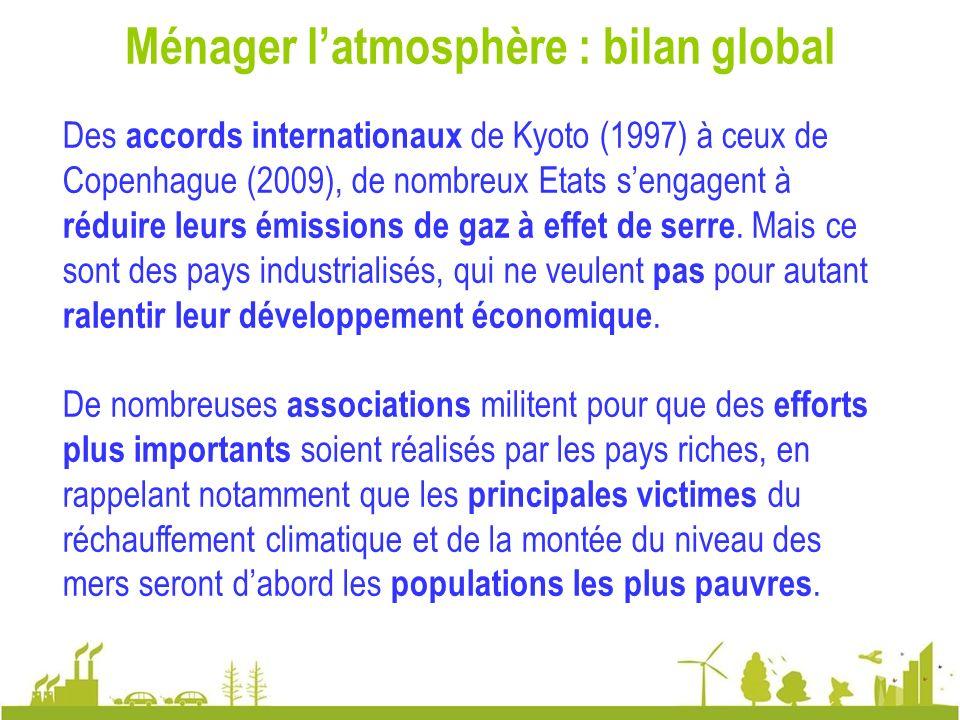 Ménager l'atmosphère : bilan global
