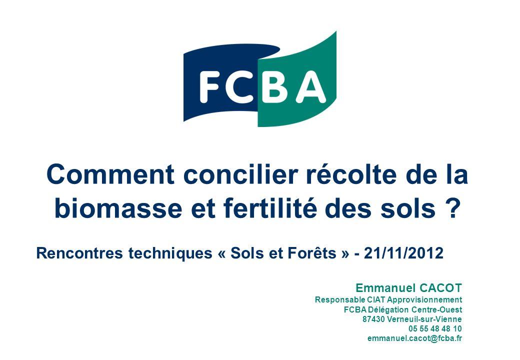 Comment concilier récolte de la biomasse et fertilité des sols