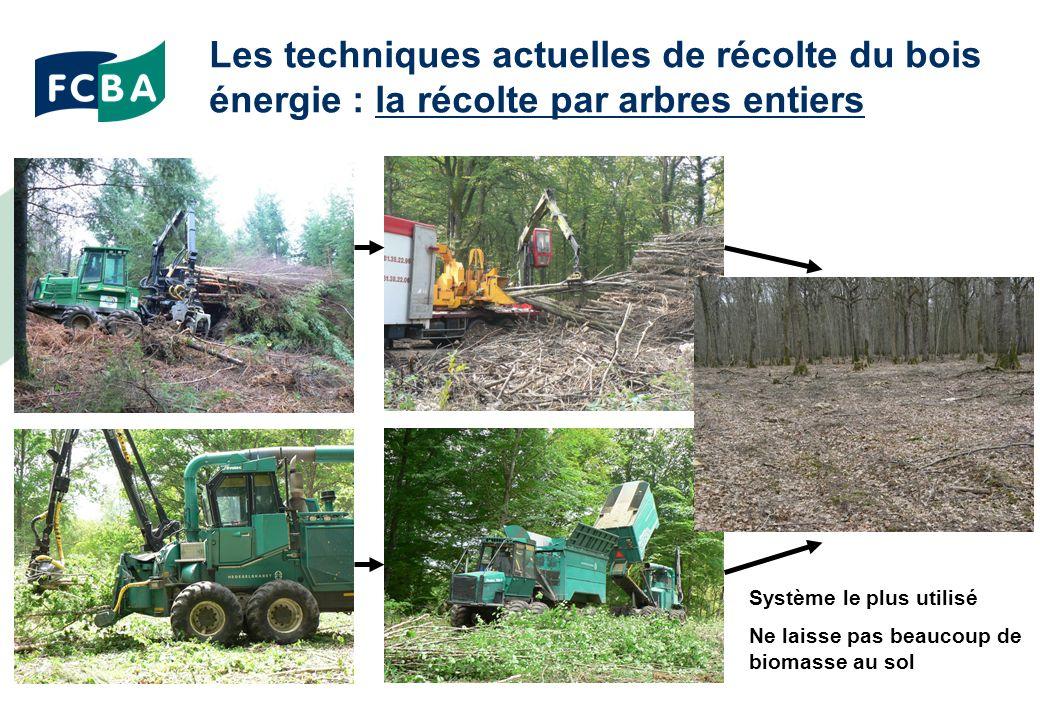 Les techniques actuelles de récolte du bois énergie : la récolte par arbres entiers