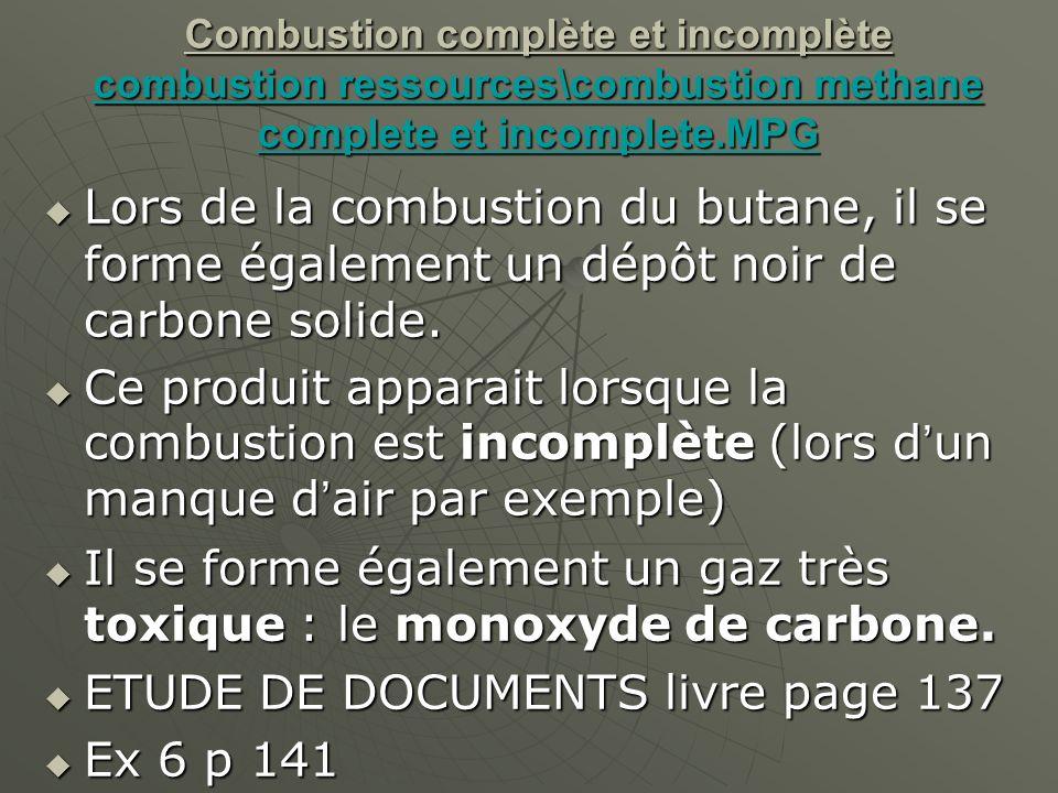 Il se forme également un gaz très toxique : le monoxyde de carbone.