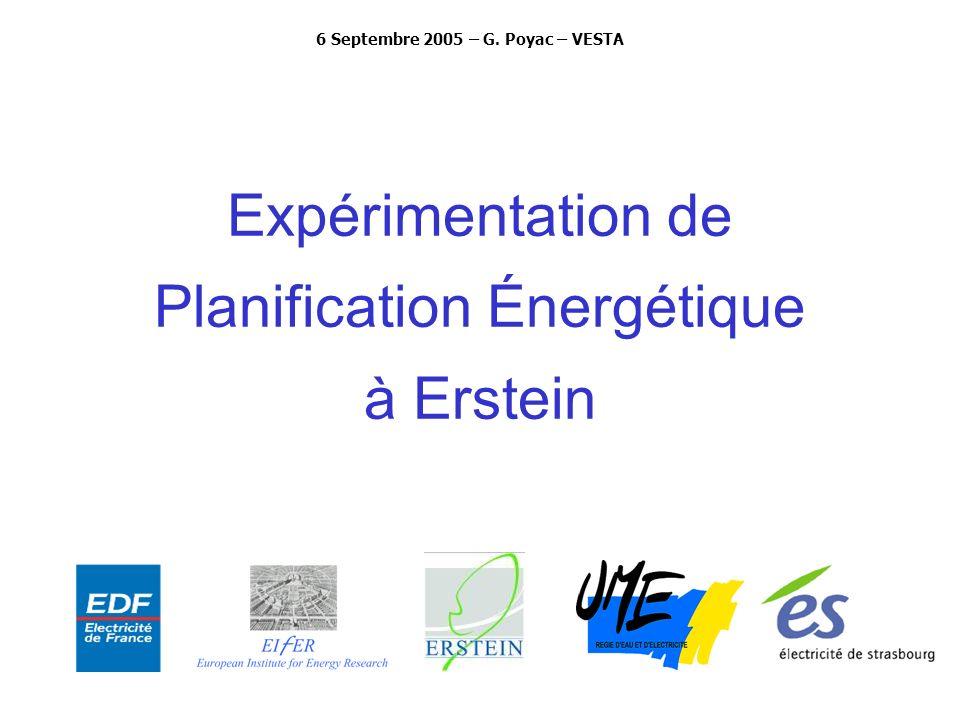 Expérimentation de Planification Énergétique à Erstein