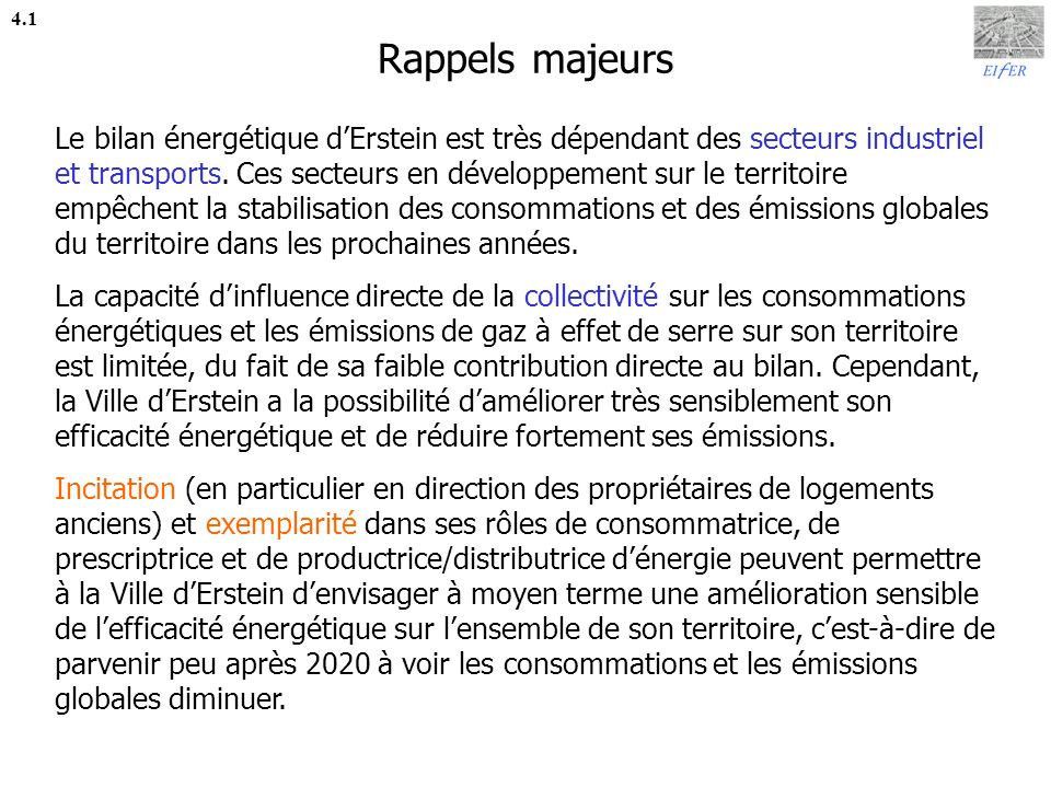 Rappels majeurs 4.1.