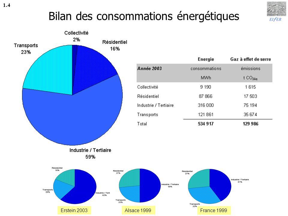 Bilan des consommations énergétiques