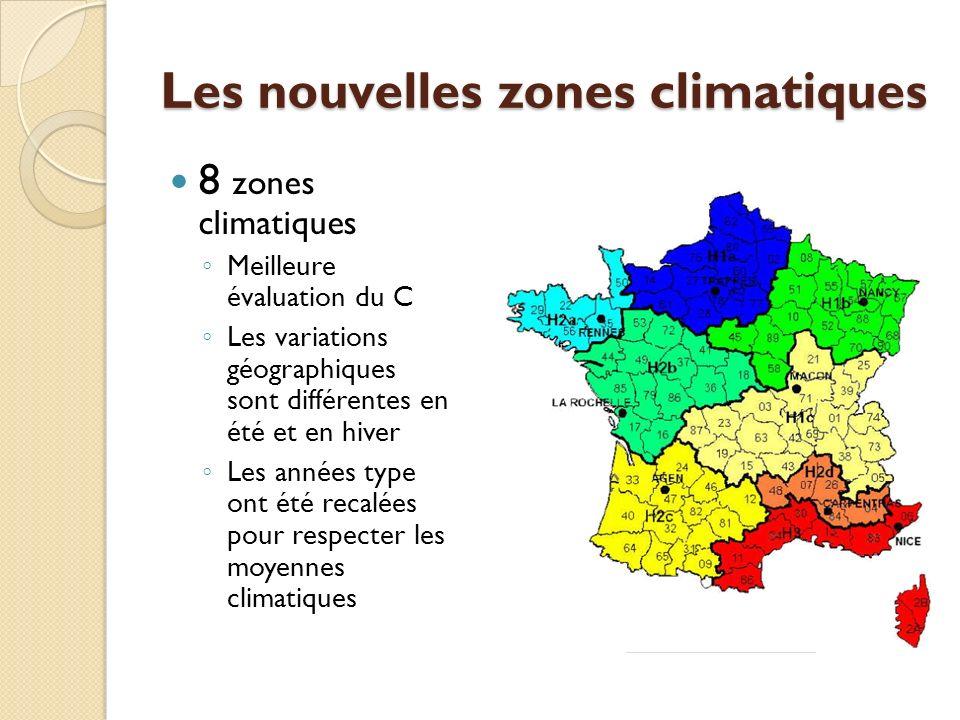 Les nouvelles zones climatiques