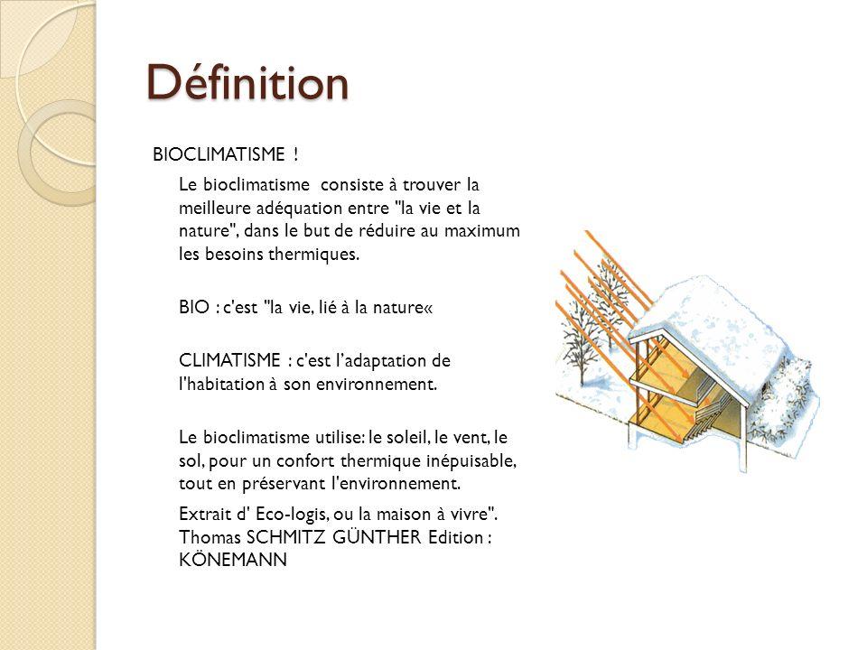Définition BIOCLIMATISME !