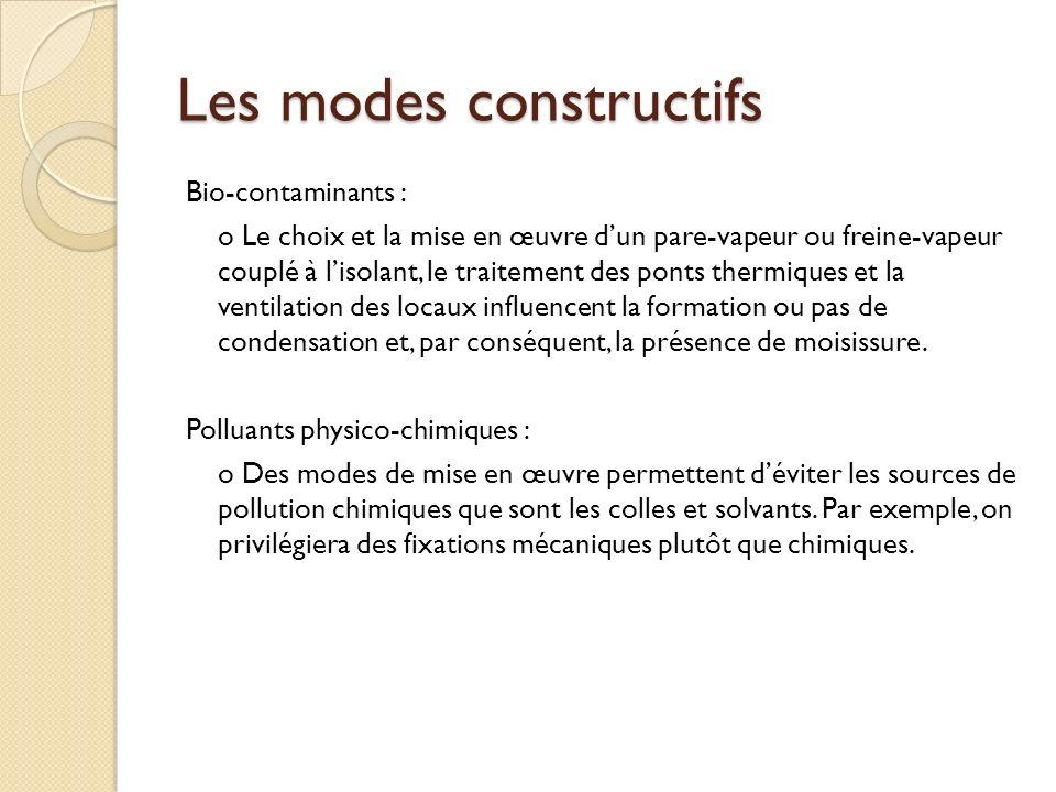 Les modes constructifs