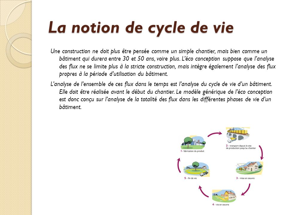 La notion de cycle de vie