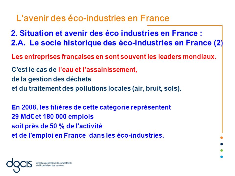 L avenir des éco-industries en France