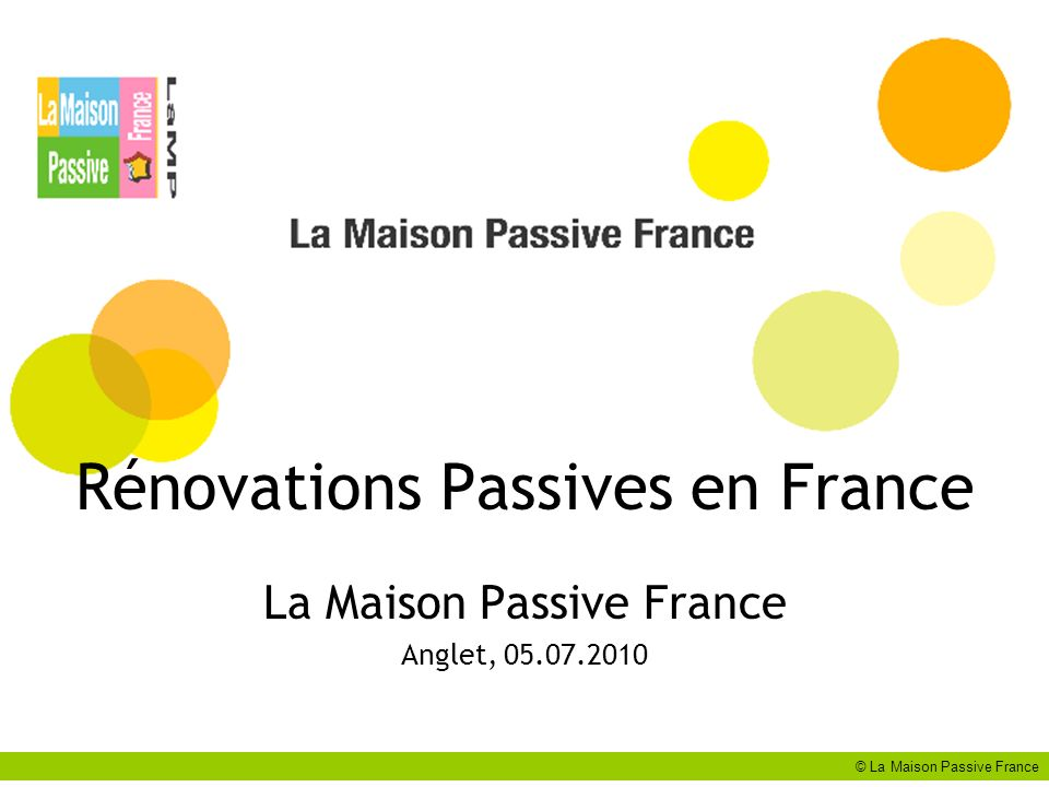 Rénovations Passives en France