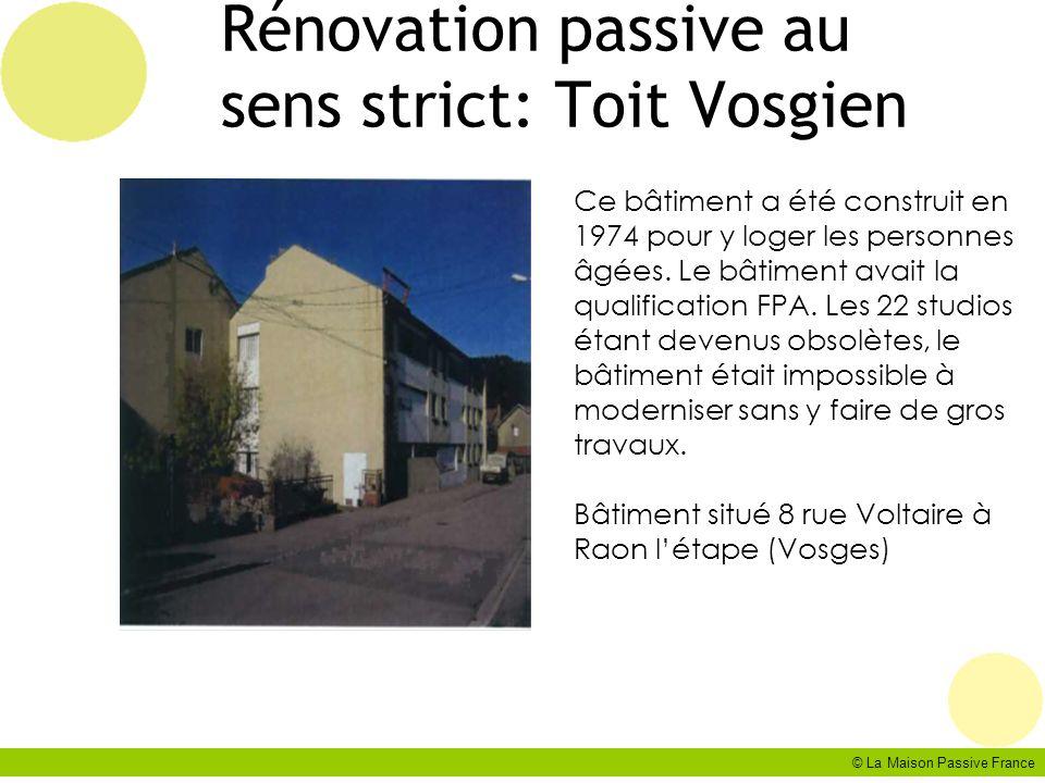 Rénovation passive au sens strict: Toit Vosgien