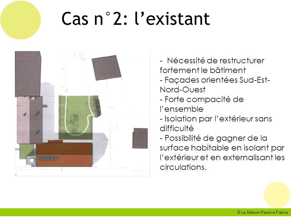 Cas n°2: l'existant - Nécessité de restructurer fortement le bâtiment