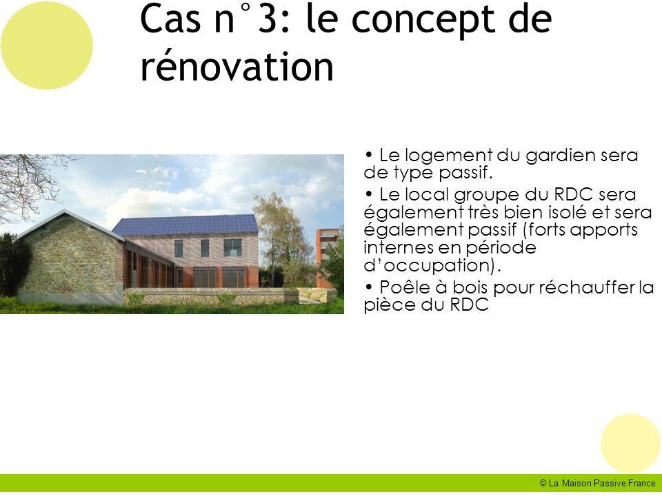 Cas n°3: le concept de rénovation
