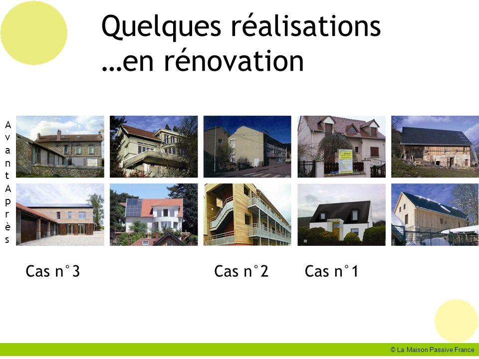 Quelques réalisations …en rénovation