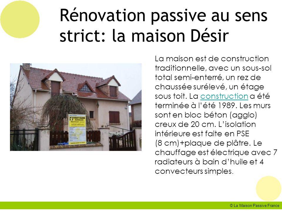 Rénovation passive au sens strict: la maison Désir