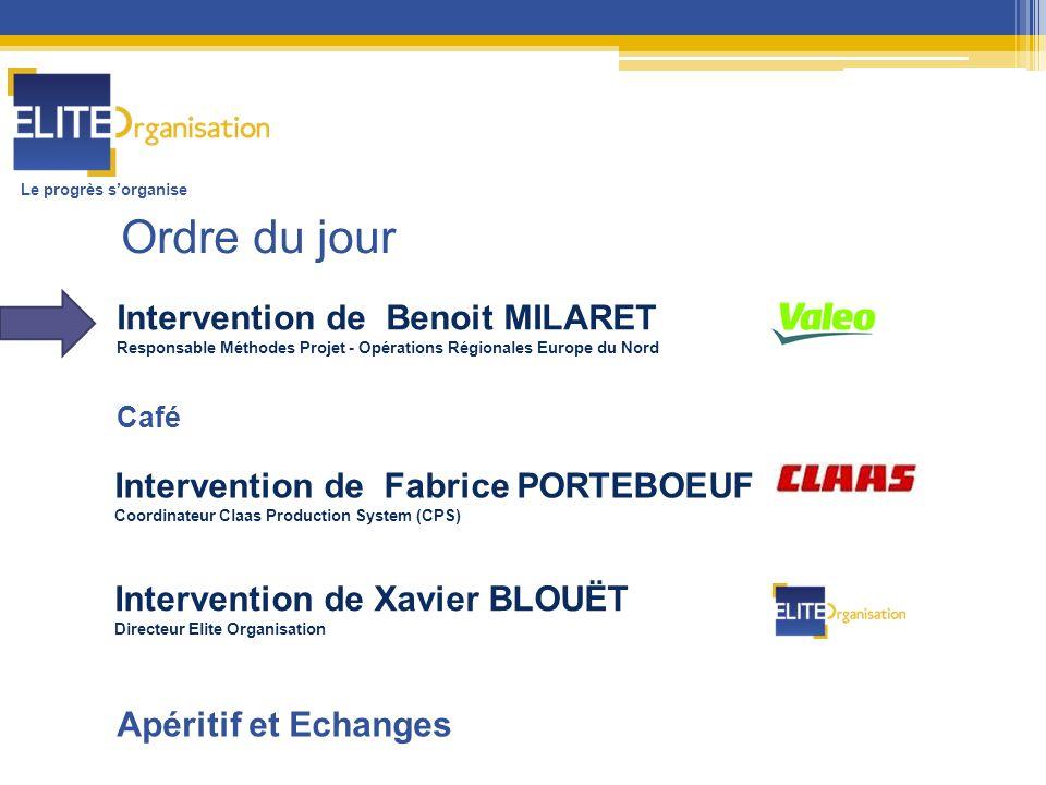Ordre du jour Intervention de Benoit MILARET
