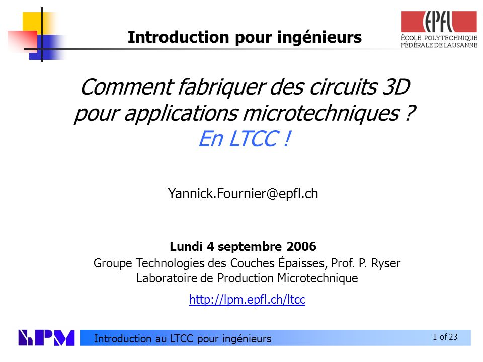 Introduction pour ingénieurs