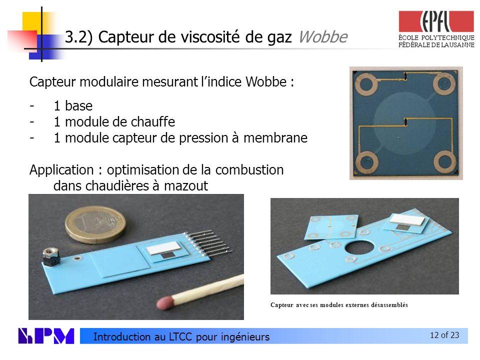 3.2) Capteur de viscosité de gaz Wobbe