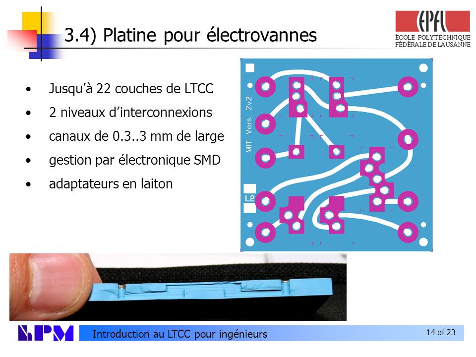 3.4) Platine pour électrovannes