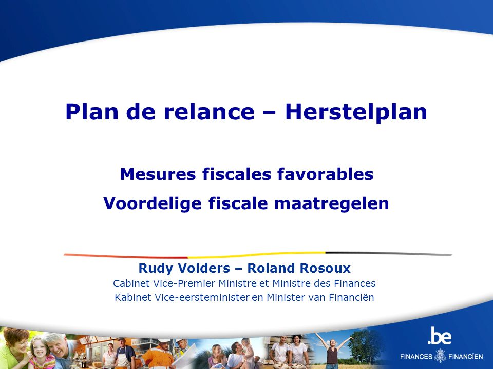 Plan de relance – Herstelplan
