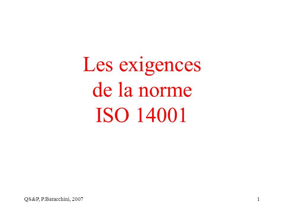 Les exigences de la norme ISO 14001