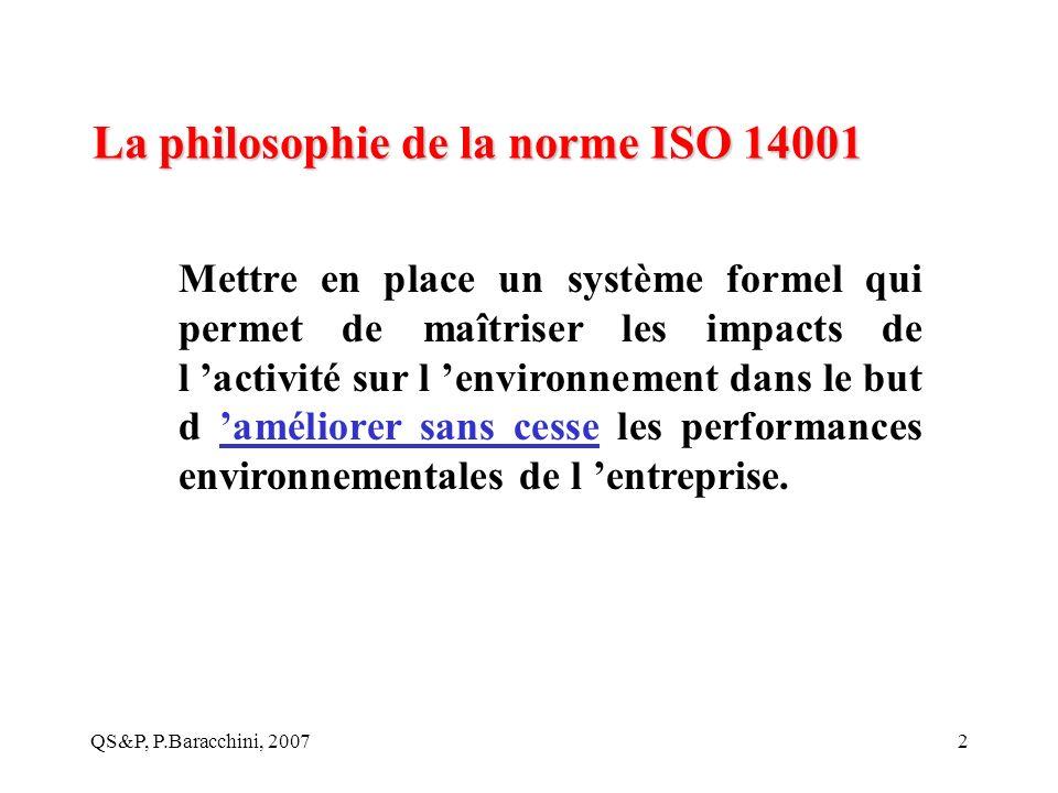 La philosophie de la norme ISO 14001