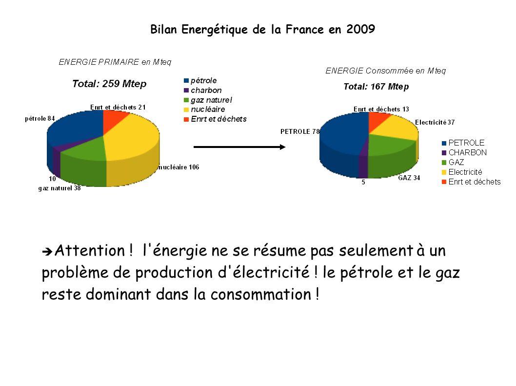 Bilan Energétique de la France en 2009