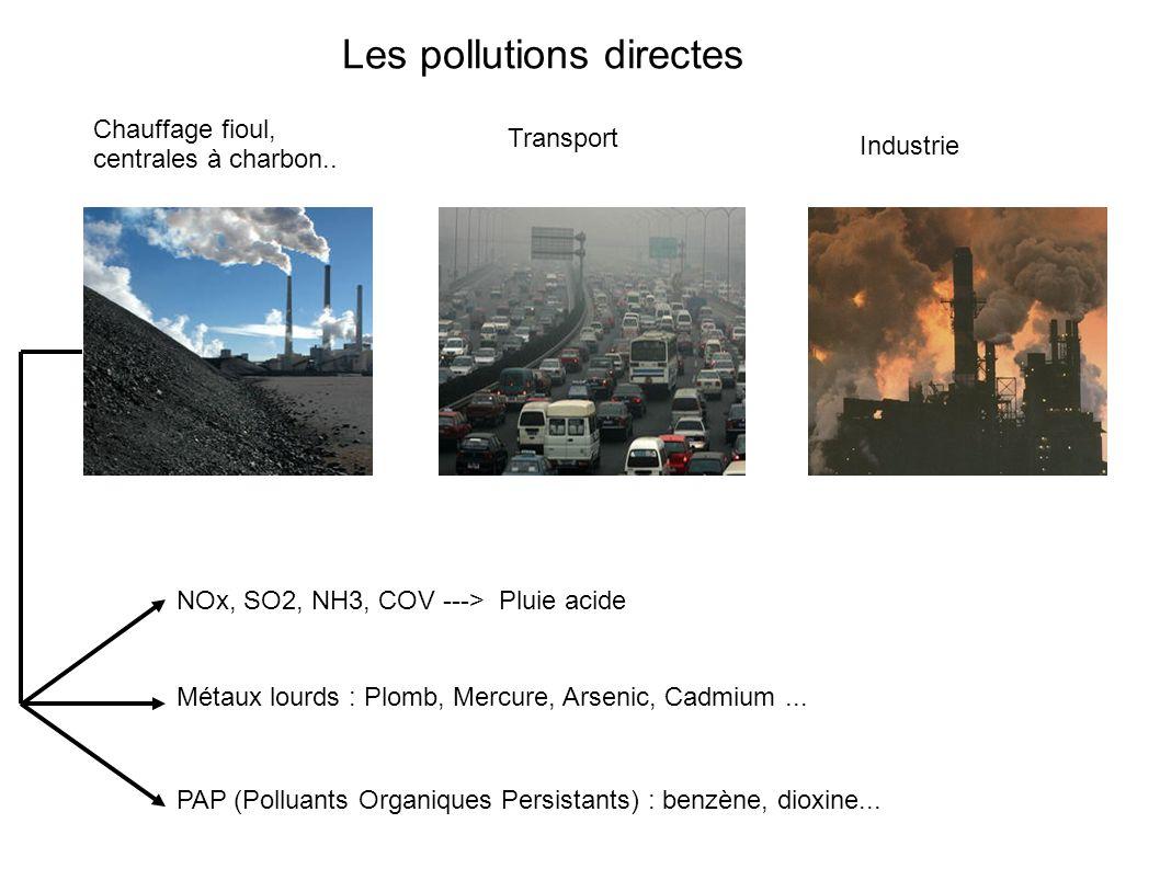 Les pollutions directes